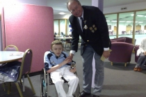 Scottish bowler James (Jamie) Smith with BWBA President Terry Fitzgerald